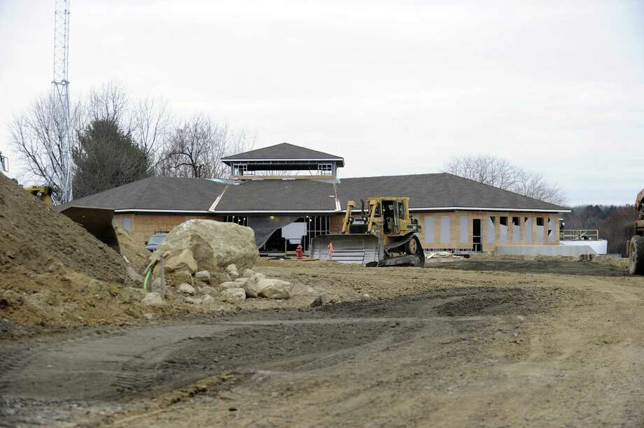 Front view of the new Bethel police station under construction, Friday, Dec. 22, 2017. Photo: Carol Kaliff / Hearst Connecticut Media / The News-Times