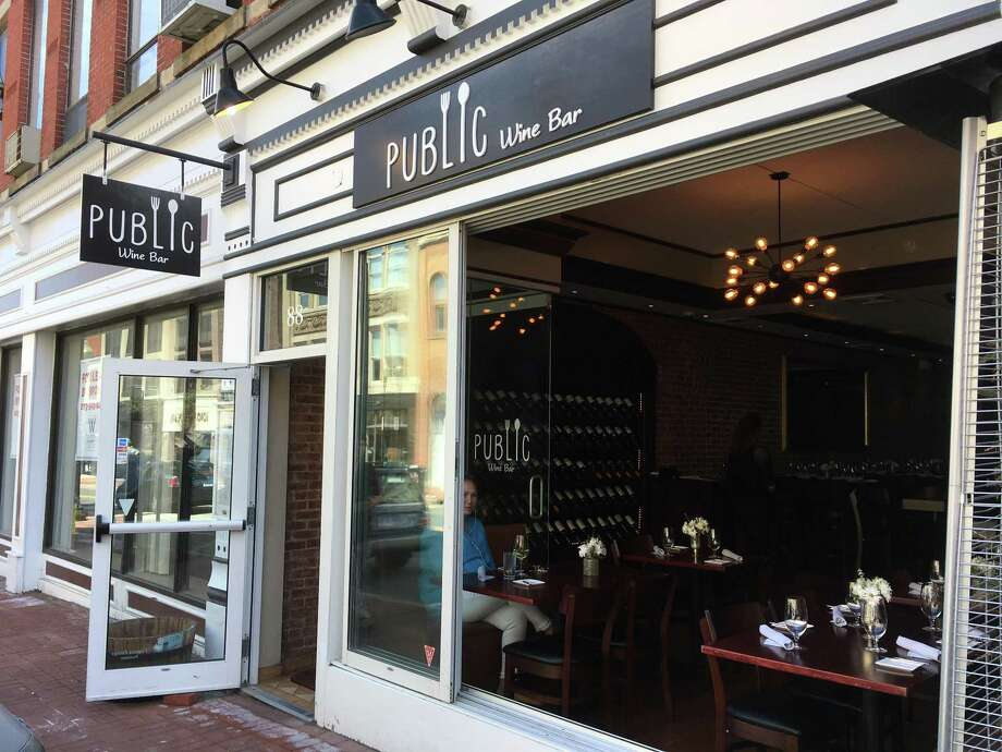 The newly opened Public Wine Bar at 88 Washington St. in Norwalk, Conn. The venue takes the place of Estia Greek Restaurant & Bar which closed last year, with Public Wine Bar's menu entrees starting at $18 for wild boar ragu and other offerings including seafood risotto and black Angus rib-eye, along with a Sunday brunch priced at $20. Menus and hours are online at Publicwinebar.com or by calling 203-939-9995. Photo: Alexander Soule / Hearst Connecticut Media / Stamford Advocate