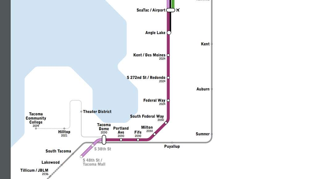 Seattle Subway proposed expansion of light rail seattlepicom