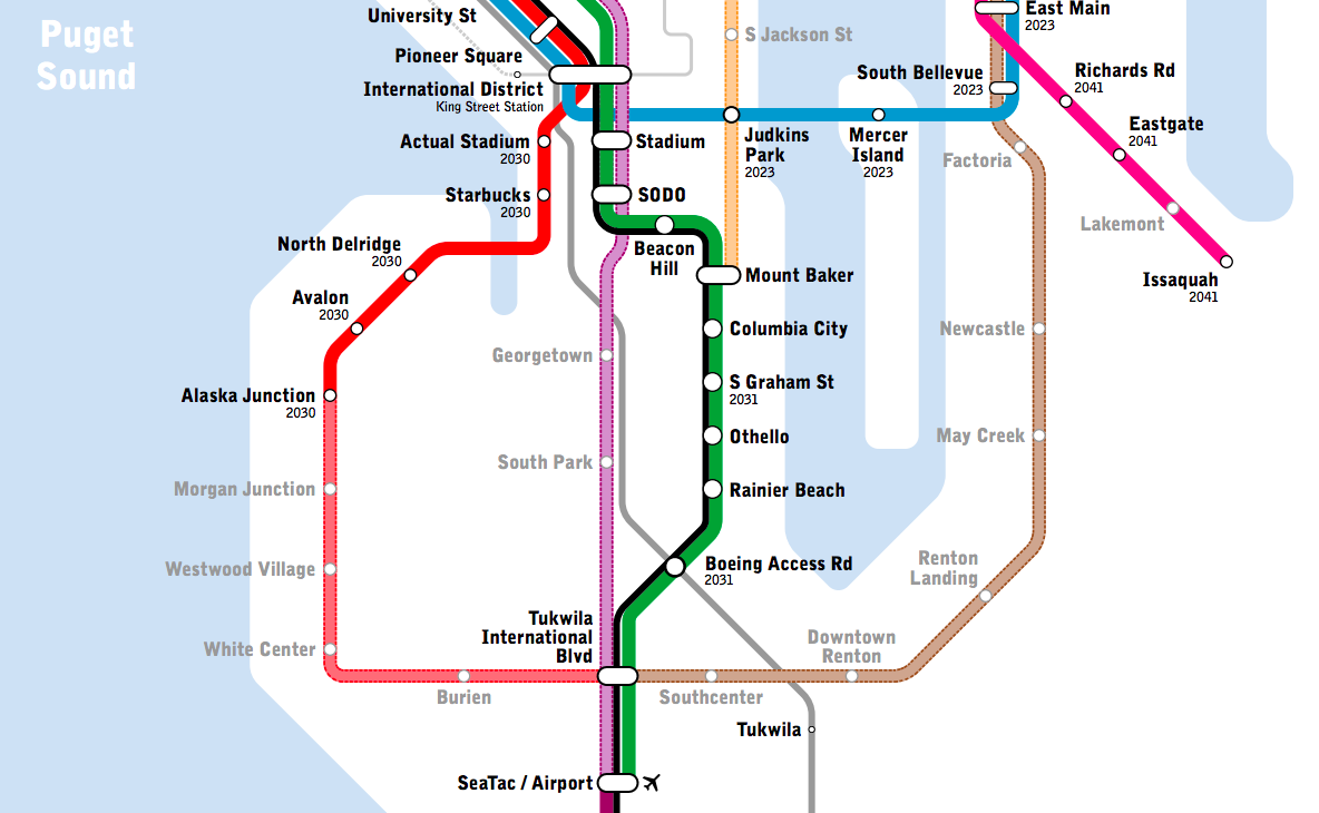 New Light Rail Map Shows Transit Seattle Only Dreams Of Seattlepi Com
