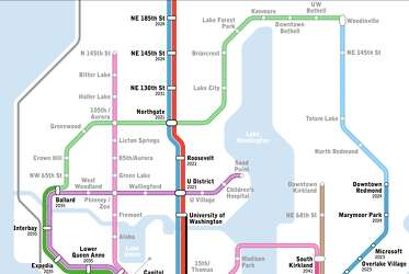 Light Rail Seattle Map Stops.New Light Rail Map Shows Transit Seattle Only Dreams Of Seattlepi Com