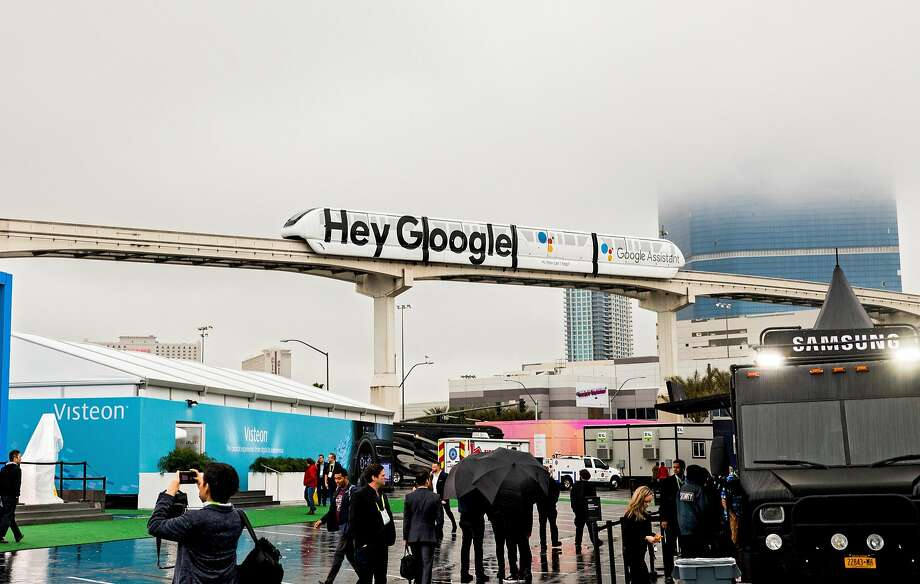 Google, which owns YouTube, had a big presence at the Consumer Electronics Show in Las Vegas last year. Photo: Roger Kisby / New York Times 2017