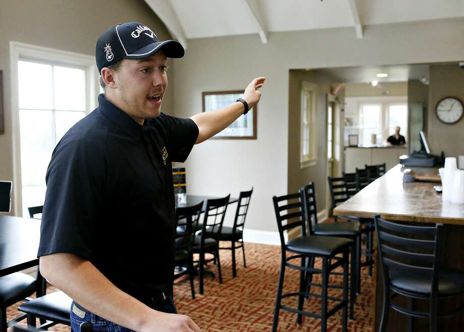 In this Wednesday, March 1, 2017 photo, Brewvino Owner and Manager Jordan Chronister talks about renovations that will be made following Brewvino, LLC.'s acquisition of Grandview Golf Club, in York, Pa. The golf club is apologizing for calling police on a group of black women after Chronister and his father said they were playing too slowly. Photo: Dawn J Sagert, Associated Press