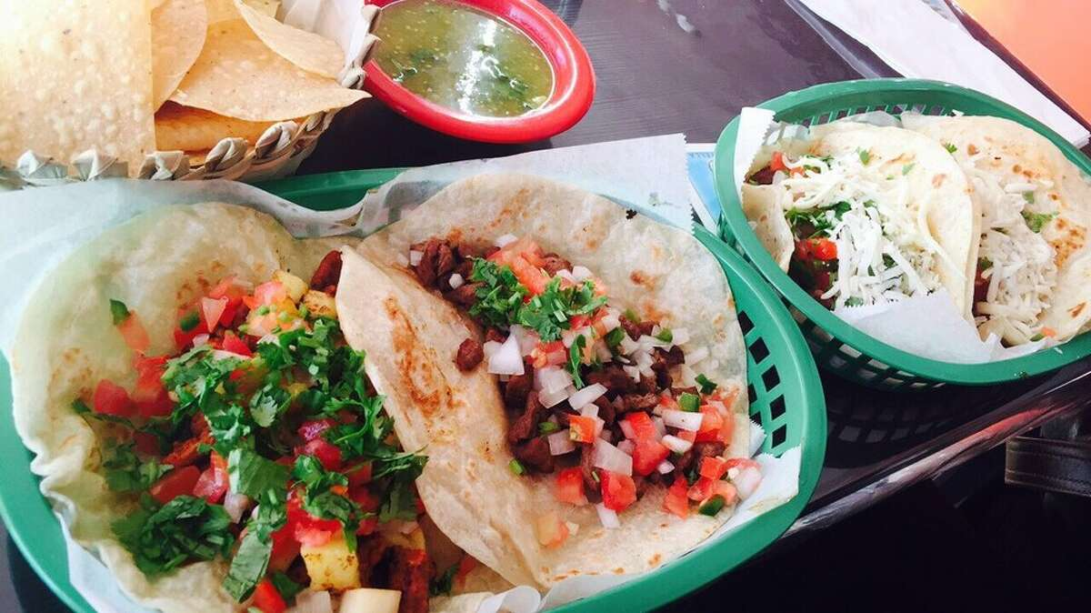 Unos P'nches Tacos 1402 Northwood Houston, TX 77009 Demerits: 19 Inspection Highlights:Condemned one pound of beef measured at 105 F and two pounds of chorizo measured at 95 F in hot holding unit.Maintain hot potentially hazardous foods at 135 F or above. Photo:Yelp/CoraMae C.