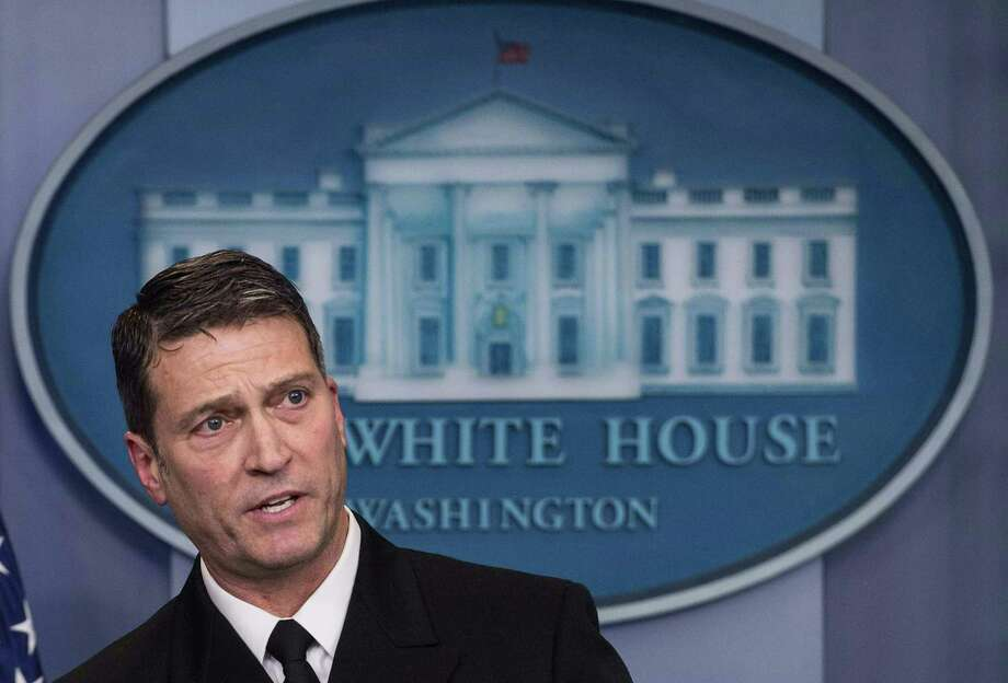 In this file photo taken on January 16, 2018 White House physician Rear Admiral Ronny Jackson speaks at the press briefing at the White House in Washington, DC. Photo: NICHOLAS KAMM / AFP /Getty Images / AFP or licensors
