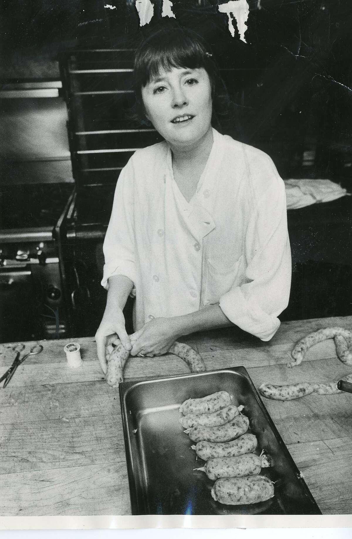 Alice Waters on Dec. 20, 1981 at Chez Panisse in Berkeley, Calif.