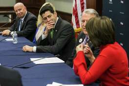 U.S. House Speaker Paul Ryan, a Republican from Wisconsin, center, listens as Representative Cathy McMorris Rodgers, a Republican from Washington, speaks during a round table meeting with American taxpayers on Capitol Hill Washington, D.C., April 17. The House will hold a vote this year to make individual tax cuts permanent, according to Ryan, even though the effort is unlikely to become law during this Congress. This is foolish.