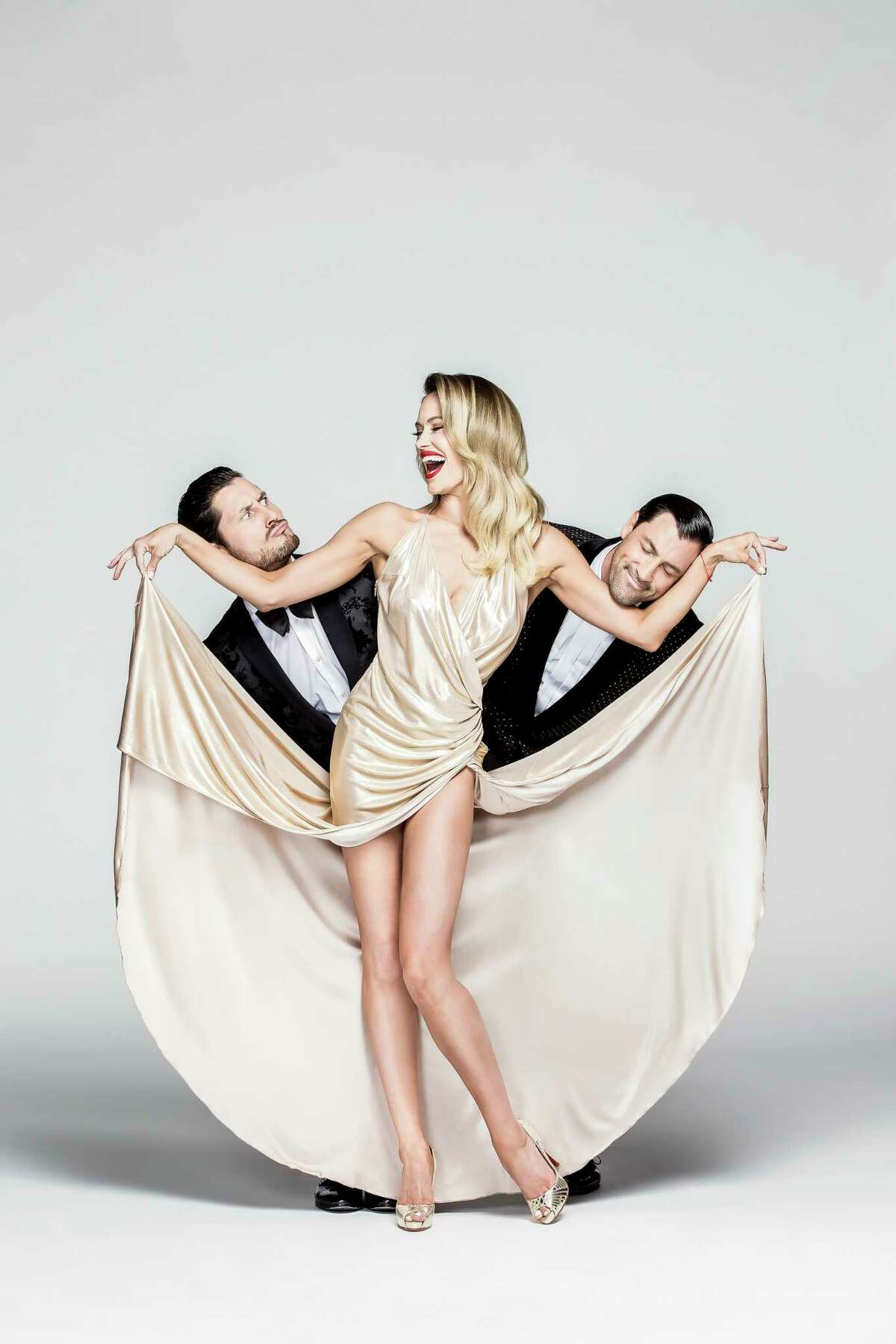 Maks and Val are Maksim and Valentin Chmerkovskiy. Peta is Maks' wife, Peta Maurgatroyd. All three are among the cast of professional dancers on