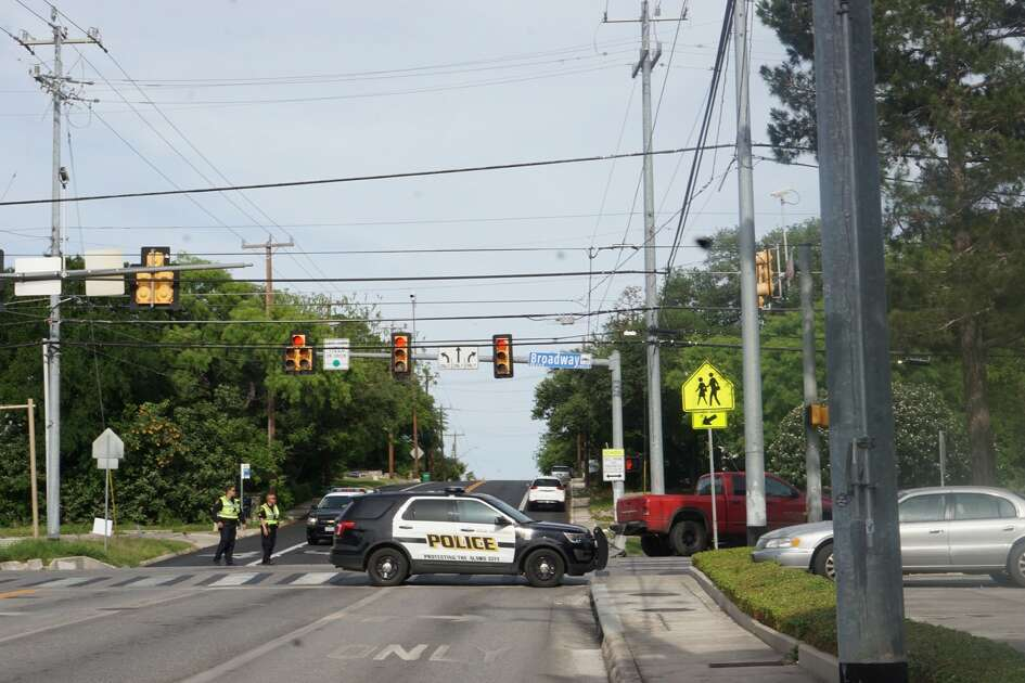 A person has died in an accident near Broadway and Sunset Tuesday, April 24, 2018.