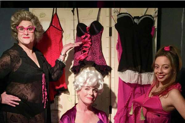 "From left, Lori Feldman, Karen Gagliardi and Ashley Ayala in a scene from the Connecticut Cabaret Theatre's production of ""Nana's Naughty Knickers,"" opening April 6 in Berlin."