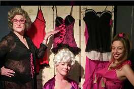 """From left,Lori Feldman, Karen Gagliardi and Ashley Ayala in a scene from the Connecticut Cabaret Theatre's production of """"Nana's Naughty Knickers,"""" opening April 6 in Berlin."""