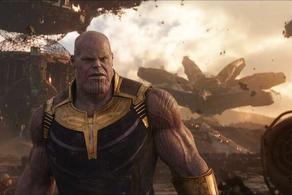 "Josh Brolin as Thanos in a scene from Marvel Studios' ""Avengers: Infinity War."""