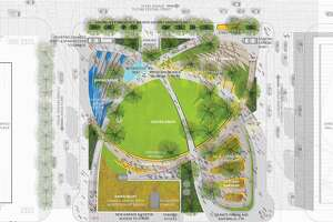 Houston First Corporation announced the redevelopment plans for Jones Plaza, located in the heart of downtown's Theater District. Rios Clementi Hale Studios, was selected to lead the project, which aims to revitalize the plaza into a vibrant public square for all visitors. The project will begin in May 2018 and is slated for completion in November 2020.