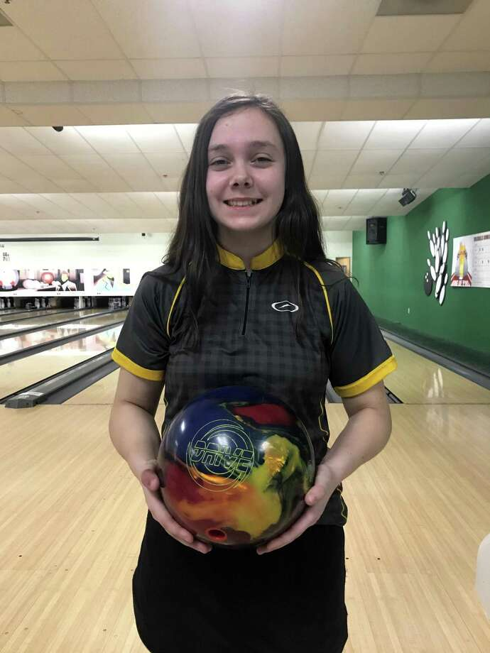 Skylar Smith of New Milford, 17, recently bowled two back-to-back 300 games during the Greater Central Connecticut Tournament for youth held at DolrBills Bowling and Family Entertainment Center in town. Photo: Contributed Photo / Hearst Connecticut Media / The News-Times Contributed