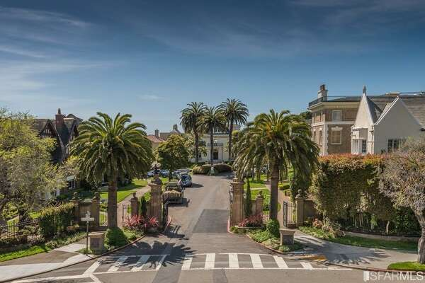 At the gate of the Presidio Terrace is this nicely preserved 1905 condo, asking just over $3M.