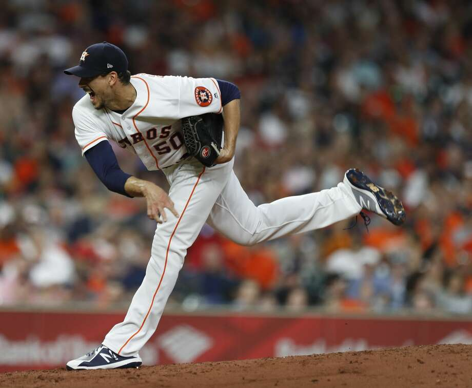 Compared to his first four starts of the season, Charlie Morton had a subpar outing in taking a no-decision against the Angels on Tuesday night. Photo: Karen Warren/Houston Chronicle