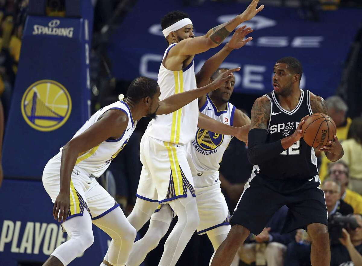 Spurs vs. Golden State WarriorsNov. 18, 2018 and March 18, 2019, AT&T Center The Spurs will see if they have what it takes to go head-to-head with the defending champs.