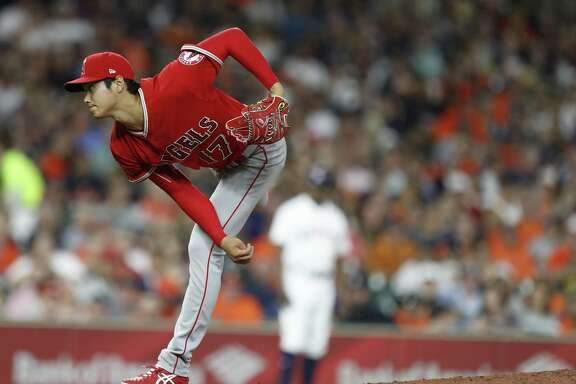 All eyes at Minute Maid Park on Tuesday night were on the Angels' highly touted rookie Shohei Ohtani, who earned a no-decision in his 5 1/3- inning stint.