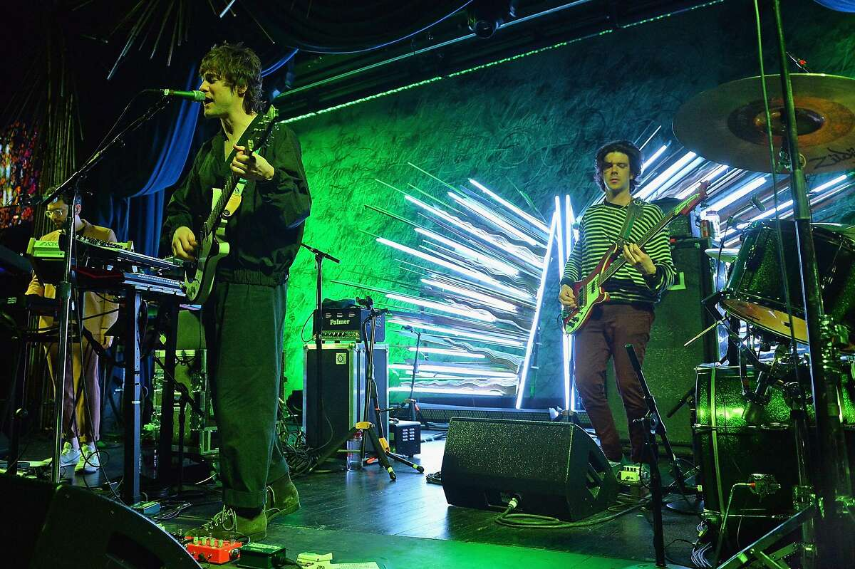 """MGMT performs onstage during the Sony Hall Grand Opening Event on March 27, 2018 in New York City. Synth-pop band MGMT has been selling out stadiums for the better half of two decades with hits like """"Kids"""" and """"Electric Feel."""" But did you know that band members Ben Goldwasser and Andrew VanWyngarden got their start when they met at Wesleyan University in Middletown, Conn., 2002? In a 2010 interview with ABC News, Goldwasser said that the two lived in the same dorm together and formed the band at the end of their freshman year. Ben Goldwasser and Andrew VanWyngarden perform Talking Head's """"This Must Be the Place (Naive Melody)"""" as their former band name The Management at Wesleyan University. """"We didn't really have any songs at that point,"""" said Goldwasser in the interview. """"It was kind of us stagging weird performances - usually interrupting some other performance."""""""
