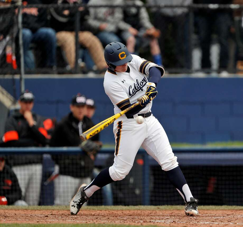 Cal's Andrew Vaughn leads the nation in on-base percentage (.561) and is among the top five in batting average (.428), home runs (18) and slugging (.899). Photo: Carlos Avila Gonzalez / The Chronicle