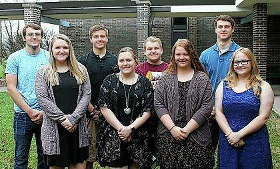 Members of the court have been selected for this year's Triopia High School prom, which is Saturday. Seniors chosen are Gabe Dawson (from left), Alexis Lucas, Ryan Hancock, Rachel Skillett, Lane Rahe, Jacklyn Gregory, Jared Milby and Ashley Jacobson. Photo:       Photo Provided