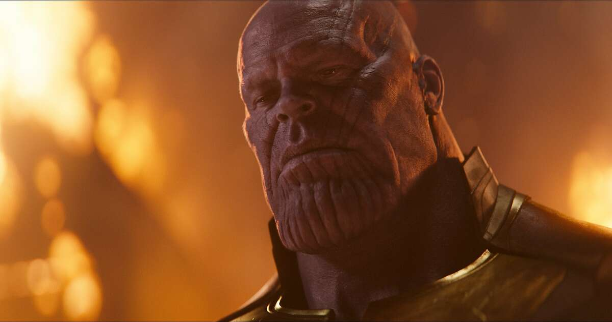 """This image released by Disney shows Josh Brolin as Thanos in a scene from Marvel Studios' """"Avengers: Infinity War."""" (Marvel Studios via AP)"""