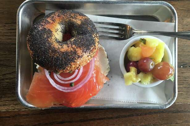 Nova salmon sandwich at Golden Bagels & Coffee