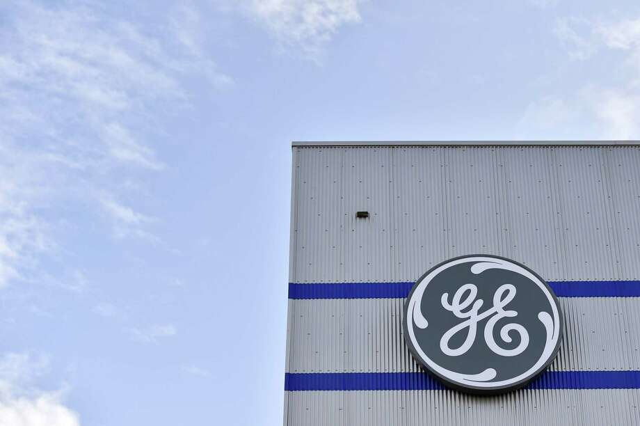 A General Electric logo at a company facility in Montoir-de-Bretagne, France. GE held its annual meeting on April 25, 2018, in Imperial, Pa. Photo: LOIC VENANCE / AFP /Getty Images / AFP or licensors