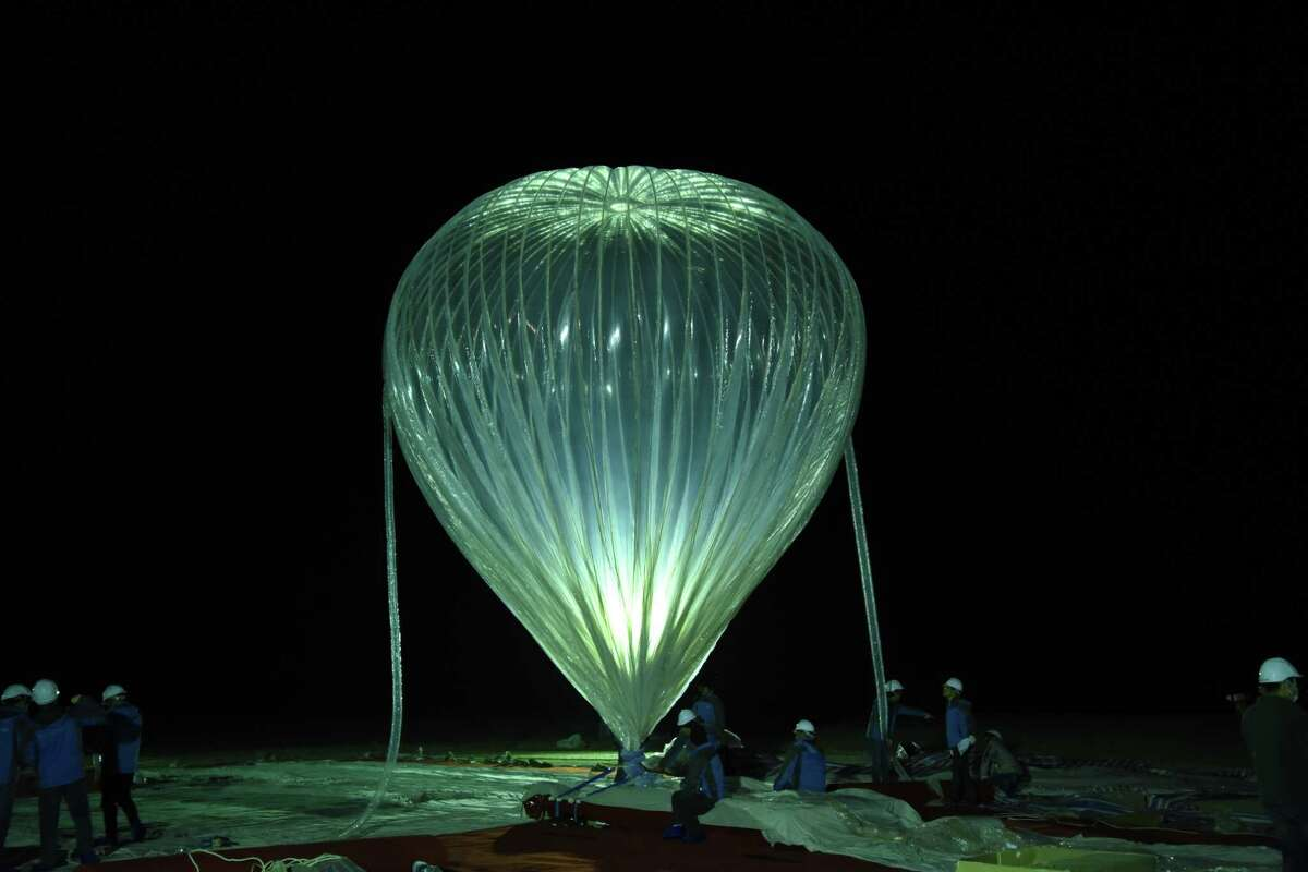 A high-altitude balloon during a recent test by Hong Kong-based KuangChi Science. The company has partnered with Webster-based NanoRacks to help non-Chinese companies get their research, Earth-observation devices and people into near space. They're hoping to send up commercial payloads later this year and tourists by 2021.