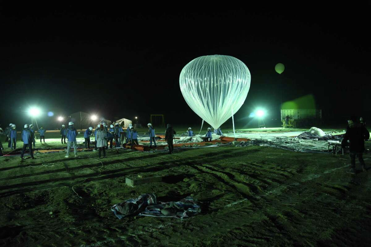 A high-altitude balloon during a recent test by Hong Kong-based KuangChi Science. The company has partnered with Webster-based NanoRacks to help non-Chinese companies get their research, Earth-observation devices and people into near space. The companies are hoping to send up commercial payloads later this year and tourists by 2021.