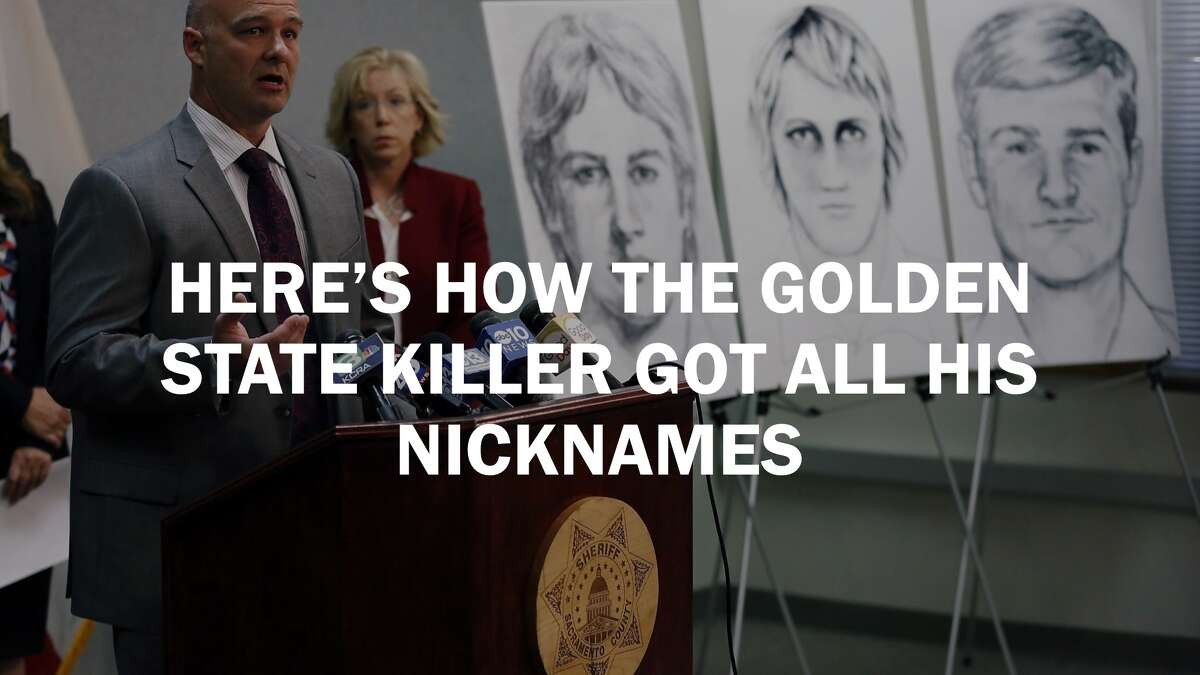 Click ahead to see all the nicknames and origins behind the Golden State Killer.