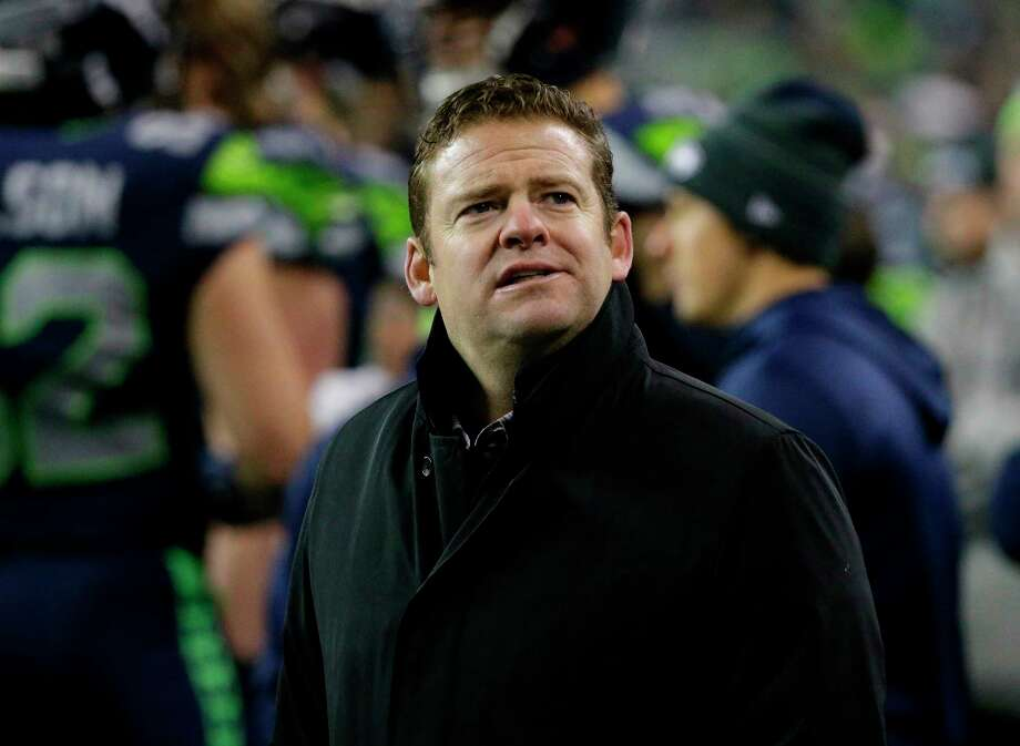 FILE - In this Dec. 3, 2017, file photo, Seattle Seahawks general manager John Schneider stands on the field after an NFL football game against the Philadelphia Eagles,in Seattle. The remodel of the Seahawks has started with the goal of remaining competitive while refreshing a roster that at one time was good enough to win a Super Bowl but grew stale.  The key for Seattle remaining a contender while churning the roster is rediscovering success in the draft after the Seahawks went 9-7 last season and missed the playoffs for the first time since 2011. Photo: Ted S. Warren, AP / Copyright 2017 The Associated Press. All rights reserved.