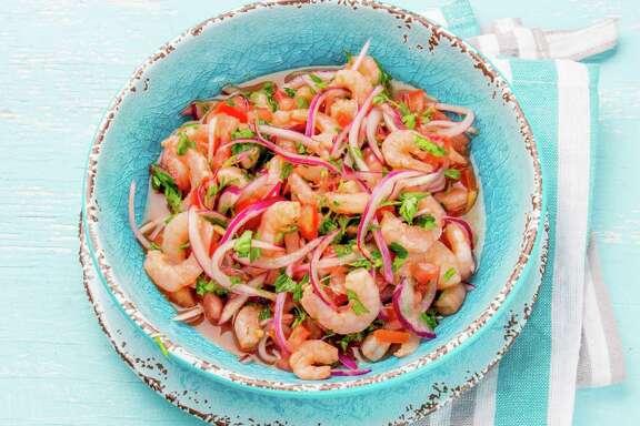 Ecuadorian shrimp ceviche.