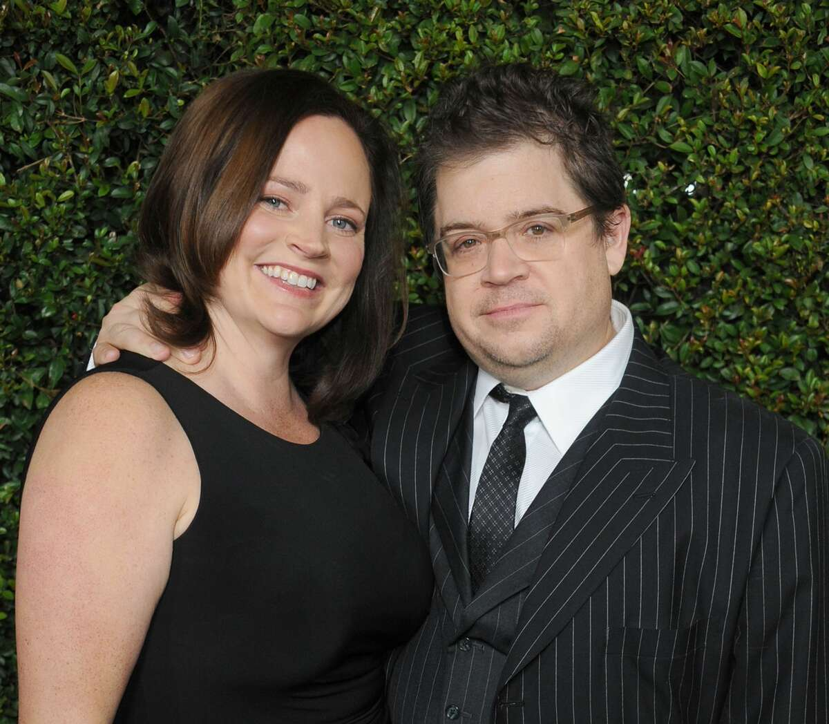 """BEVERLY HILLS, CA - DECEMBER 15: Actor Patton Oswalt and wife Michelle McNamara arrive at the """"Young Adult"""" Los Angeles Premiere at AMPAS Samuel Goldwyn Theater on December 15, 2011 in Beverly Hills, California. (Photo by Gregg DeGuire/FilmMagic)"""