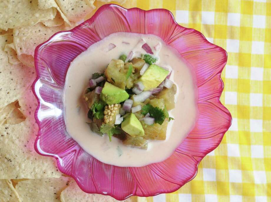 Charred eggplant makes an interesting alternative to seafood in a vegan ceviche recipe from Los Angeles-based chef Ricardo Zarate. Photo: Paul Stephen / San Antonio Express-News