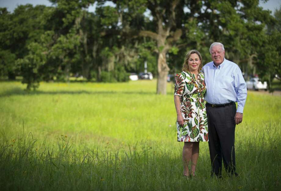 Philanthropists Rich and Nancy Kinder at Memorial Park, which will be transformed within the coming decade by their $70 million donation to the Memorial Park Conservancy, the largest park donation in Houston's history. Photo: Mark Mulligan, Houston Chronicle / Houston Chronicle / © 2018 Houston Chronicle