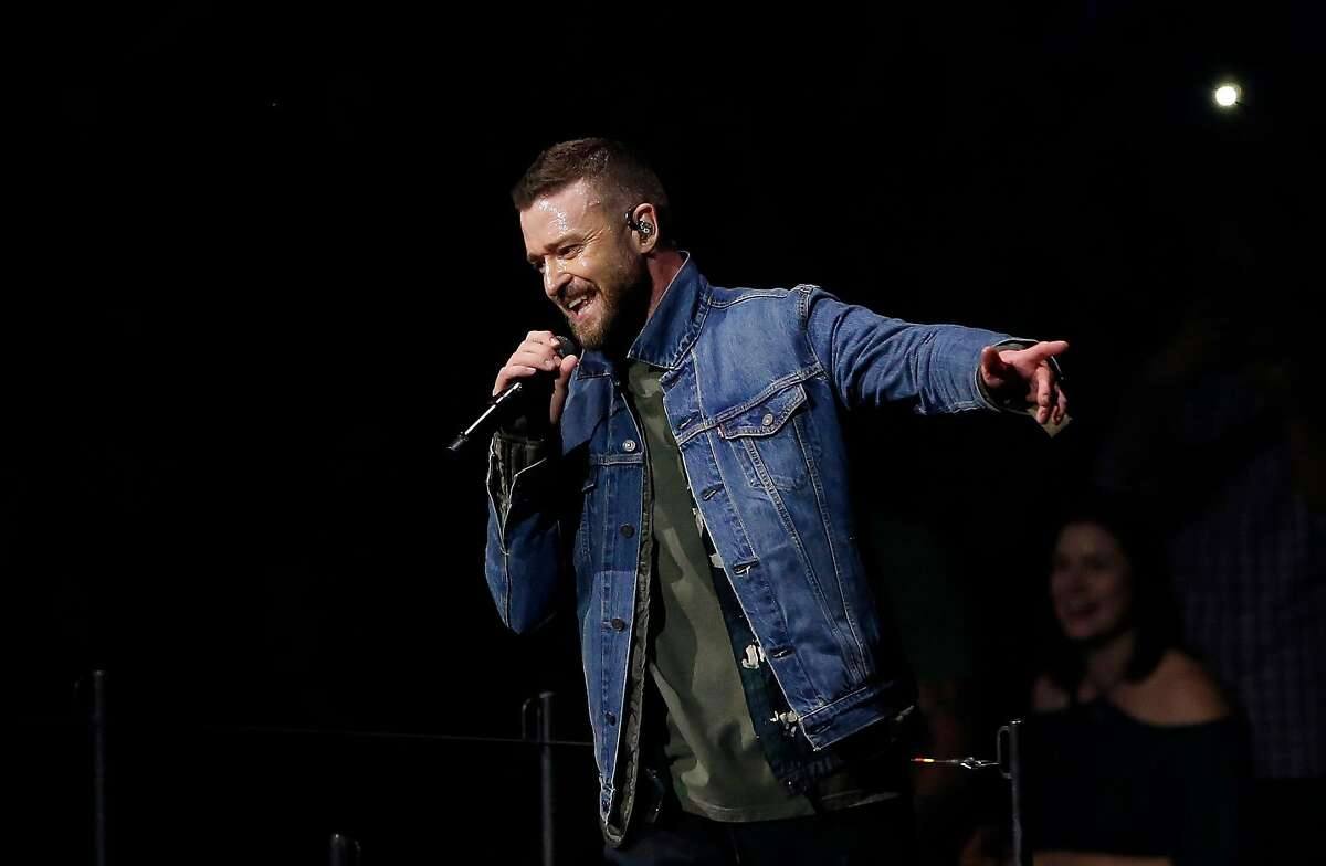 Justin Timberlake performs during the Man of the Woods tour on Tuesday, April 24, 2018 at the SAP Center in San Jose, California.