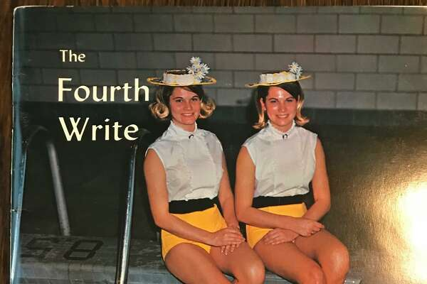 In 1968, Amabel and Amalea Hart were students at San Antonio College, where they also were synchronized swimmer, and appeared on the cover of the campus magazine Fourth Write.
