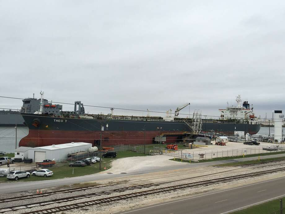 A crude oil tanker is seen in Corpus Christi. San Antonio-based refiner Andeavor says it will participate in two joint ventures that will connect Permian Basin crude oil with Corpus Christi storage terminals. Photo: NuStar Energy LP /NuStar Energy LP