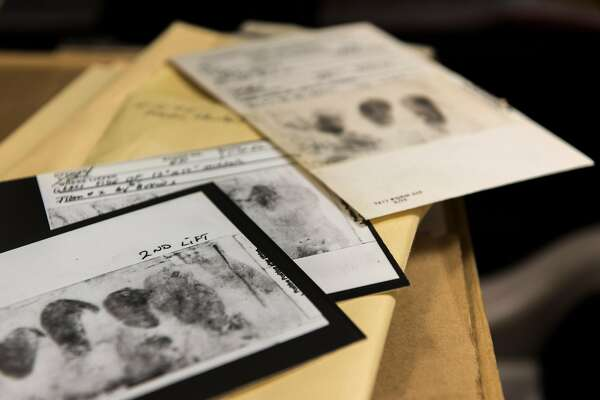 In an undated photo released by the FBI, documents related to the decades-long investigation into a serial killer and rapist, known variously as the Golden State Killer, the East Area Rapist or the Original Night Stalker, who terrorized California in the 1970s and 1980s. Joseph James DeAngelo was reportedly arrested and charged with two counts of murder in relation to the case on April 25, 2018. (Federal Bureau of Investigation via The New York Times) -- FOR EDITORIAL USE ONLY --