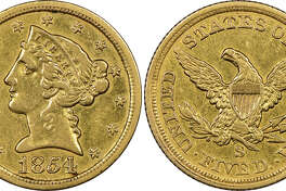 "Mistakenly believed by its anonymous New England owner to be a fake, this historic gold coin now has been authenticated as ""the discovery of a lifetime"" by Numismatic Guaranty Corporation (www.NGCcoin.com) in Sarasota, Florida as only the fourth known surviving example of a $5 denomination coin struck at the San Francisco Mint during the California Gold Rush in 1854.  It is worth millions of dollars, according to NGC."
