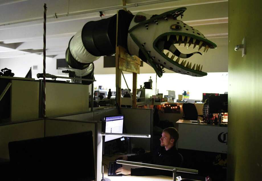 "Animators work in their creatively-decorated offices at Blue Sky Studios in Greenwich, Conn. Wednesday, May 24, 2017. The animation studio is known for creating hits such as ""Ice Age."" Photo: Tyler Sizemore / Hearst Connecticut Media / Greenwich Time"