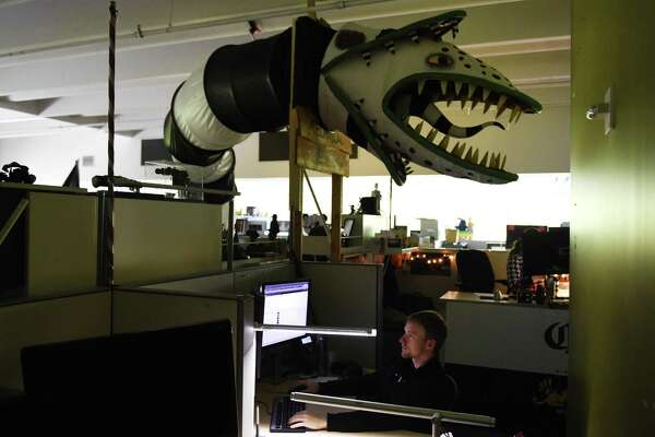 """Animators work in their creatively-decorated offices at Blue Sky Studios in Greenwich, Conn. Wednesday, May 24, 2017. The animation studio is known for creating hits such as """"Ice Age."""""""