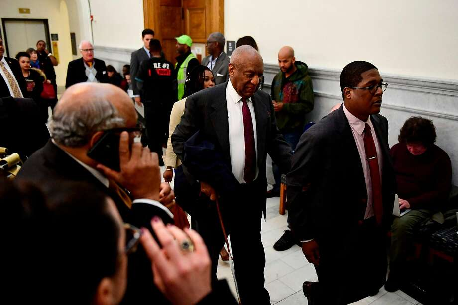 Former TV star Bill Cosby heads to a private room during a break in the sexual assault trial at the Montgomery County Courthouse in Norristown, Pa. Photo: Corey Perrine / AFP / Getty Images