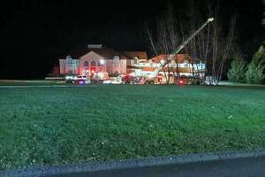 Monday night, the fire department dispatched firefighters to a report of a gas leak on Hogsback Road in Oxford, Conn.
