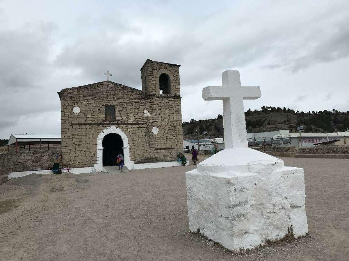 A Tarahumara church near Creel, Mexico.