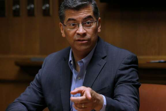 California Attorney General Xavier Becerra meets with the Chronicle Editorial Board in San Francisco, Calif. on Wednesday, April 25, 2018.