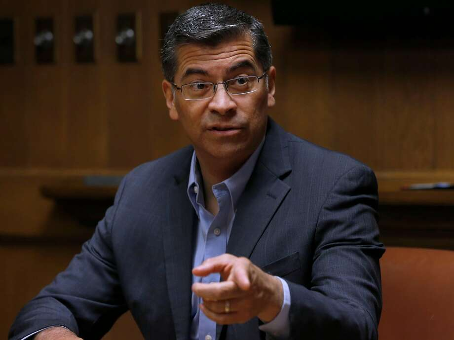 California Attorney General Xavier Becerra meets with the Chronicle Editorial Board in San Francisco, Calif. on Wednesday, April 25, 2018. Photo: Paul Chinn, The Chronicle