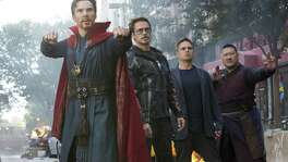"Superheroes face an existential threat in ""Avengers: Infinity War."""