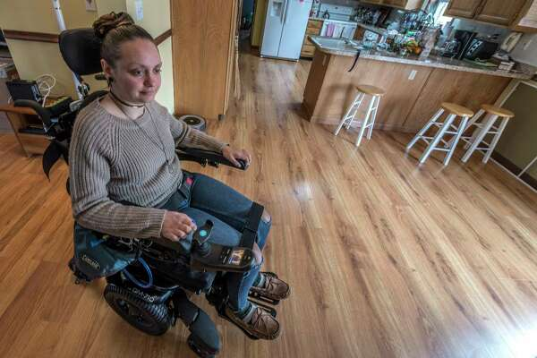 The Times Union made a visit to the home of Susan Warzek to get an update on the recovery of Morgan Waite Friday April 20, 2018 in Halfmoon, N.Y.  (Skip Dickstein/Times Union)